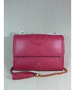 NWT Tory Burch Bright Azalea Leather Fleming Convertible Bag - $478.04
