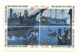 The Boston Tea Party, USA 8 cent, 4-Stamp Set, Unused, Scott #1480-83 - $1.73