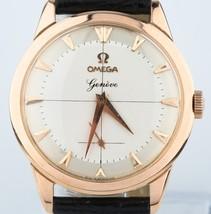 Omega 18k Rose Gold Vintage 1960 Watch 17 Jewels Calibre 267 Excellent c... - $3,149.67