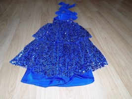 Size Teen Kelle Dance Costume Fully Sequined Unitard Leotard Royal Blue ... - $28.00