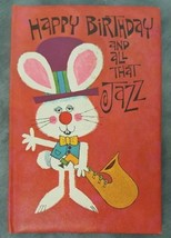 Happy Birthday & All That Jazz Book American Greetings Vintage 70s Bunny... - $19.79