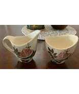 Red Wing Pottery Tampico Pattern SUGAR BOWL & CREAMER - $29.65