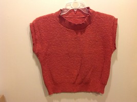Deep Dark Salmon-Colored Hand Knit Sweater-vest