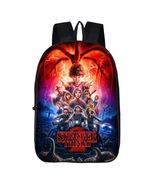 Stranger Things Theme Kids Backpack Daypack Schoolbag Main Scene - $21.99