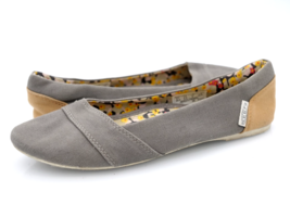 Keen Womens 5.5 Gray Round Toe Slip On Ballet Flat Canvas Shoes - $19.99