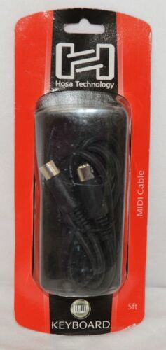 Hosa Technology MID305BK MIDI Cable 5Pin DIN To Same Five Feet Long