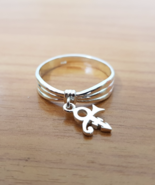 Ring - Dangling - Love - Remembrance Symbol - Sterling Silver - Handmade - $47.00
