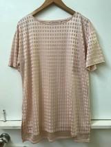 Philosophy Women's Knit Tunic Top Short Sleeve Size 0X Pink Semi-sheer S... - $16.95