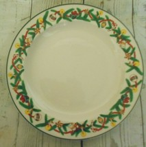 Two Sakura Majesticware Stoneware Christmas Cheer Dessert Plates 1994 Su... - $22.98