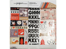 The Paper Studio I Heart My Dog Papercrafting Kit, Scrapbooking #345355