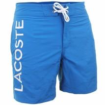 Lacoste Men's Premium Surf Swim Trunks Board Shorts Laser Blue size XL