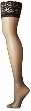 Berkshire BLACK Sheer Leg Invisible Toe Thigh Highs, 3-Pack, Size Queen1