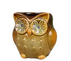 Panda Superstore Set of 2 Cute Owl Shape Home Decor Storage Pot Little Ornament(