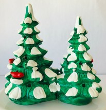 Dept 56 Snowhouse Trees Double Attached Ceramic with Red Birds Can Be Li... - $38.69