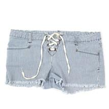 21 Vaqueros Mujer Pin-Up Pantalones Cortos Rayas Recortado Rasgados Enve... - $15.93