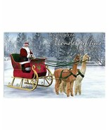 Most Wonderful Time Of The Year Poster, Llama Poster, Gift For Christmas - $25.59+
