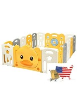 16-Panel Foldable Baby Playpen with Sound - $245.49