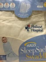 Holland Michigan Hospital Halo Sleep Sack Swaddle Newborn 0-3 Months Cre... - $23.75