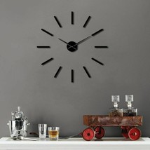 Huge Simple Modern 3D DIY Wall Clock Big Large Frameless Acrylic Wall St... - $34.06+