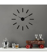 Huge Simple Modern 3D DIY Wall Clock Big Large Frameless Acrylic Wall St... - $34.05+