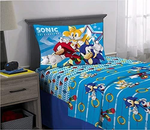 Sonic The Hedgehog 3 Piece Twin Size Microfiber Sheet Set - $39.99