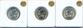 1944 PDS SILVER JEFFERSON WAR NICKELS-DAZZLING STUNNING UNCIRCULATED-SHI... - $44.95
