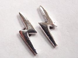 Electric Bolt Stud Earrings 925 Sterling Silver Corona Sun Jewelry Lightning - $2.96