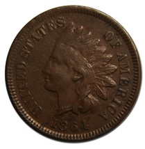 1864L One Cent Indian Head Penny Coin Lot# A 2184