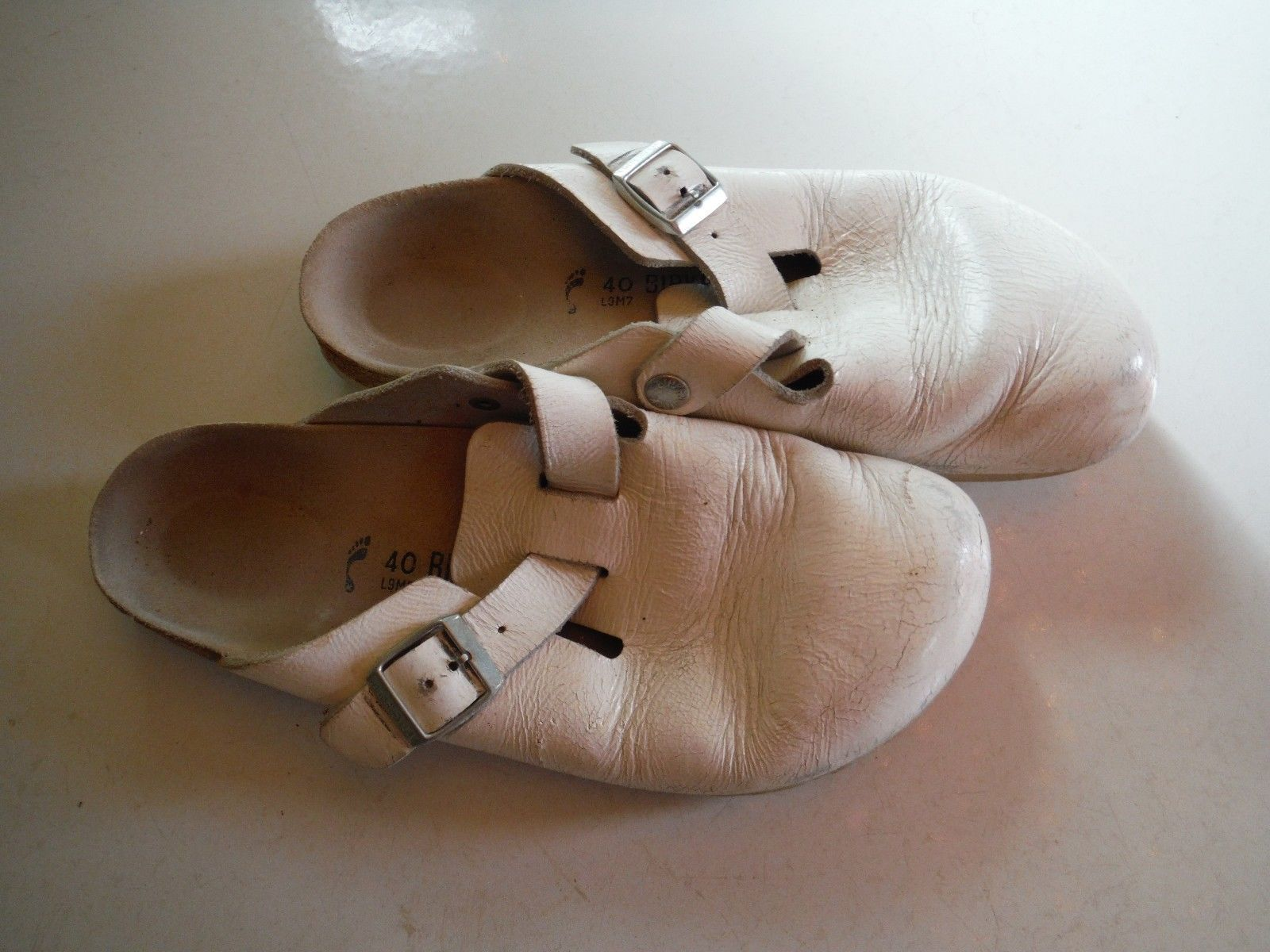be69350f764a Birkenstock unisex white clogs shoes used and 36 similar items. S l1600