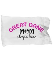 Great Dane Mom and Dad Pillow Cases (Mom) - $9.75
