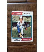 1974 Topps Signed Card Carl Morton Atlanta Braves exhibitions Rangers - $50.29