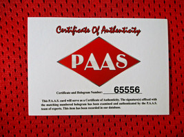 CHRIS PAUL / AUTOGRAPHED HOUSTON ROCKETS RED CUSTOM BASKETBALL JERSEY / COA image 7