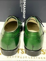 Handmade Men's Green Leather Brogues Style Lace Up Dress/Formal Oxford Shoes image 6