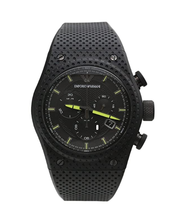 NWT Emporio Armani Men's Black Rubber Strap Sport Chronograph Watch AR6120 - £205.59 GBP