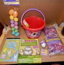 Easter Mix Lot 7 Items Mini Mouse Basket Stickers Paper Grass Eggs Color Kit162T - $12.49