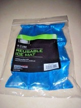 """Living Solutions ICE PACK 9 CUBE ICE MAT 6"""" X 9"""" FOOD SAFE,  LUNCH AND C... - £2.64 GBP"""