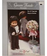 Fibre Craft Groom Tuxedo Crochet Pattern Leaflet FCM 154 1988 - $6.50