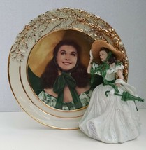 Bradford Exchange Gone With The Wind Plate and Figurine Belle Of The Bar... - £37.94 GBP