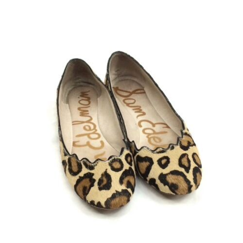 Sam Edelman Alaine Leopard Calf Hair Scalloped Ballet Flat 6.5 - $24.30