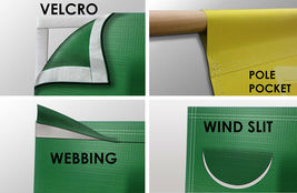 Jet Tools Vinyl Banner 2'x4' 13 OZ. Garage or trade shows Ready Hang Equipment image 4