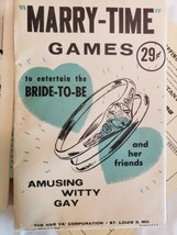 Vtg Bridal Shower Party Games Lot Book Leaflets Bride Activities Word Sc... - $15.82