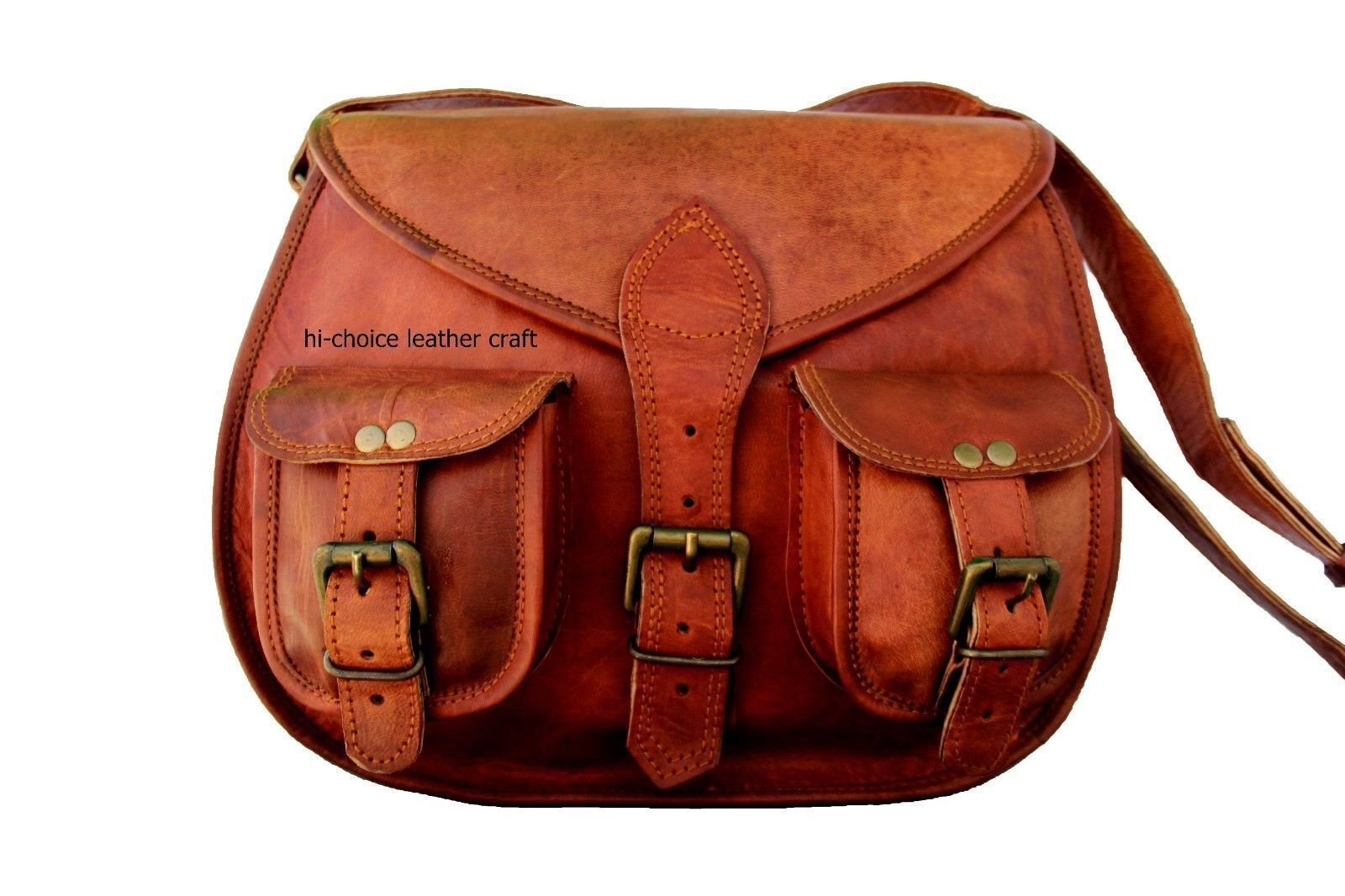 6a1eb2b37 Real leather handmade women Cross body Bag brown vintage small size shoulder  bag