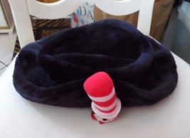 Ladies / Junior black faux fur hat with Cat in Hat on front from Dr Seuss - $18.50