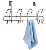 Home Basics NEW Satin Nickel 8 Over the Door Hanger Towel Hook - DH30240 - $28.21