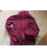 Columbia Girl's Fleece Jacket Size Medium Purple Zip Up Zip Pockets Coll... - $9.00