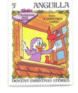 ANGUILLA MINT STAMP 5C 1983 A CHRISTMAS CAROL DISNEY PARROT A295 - $1.55