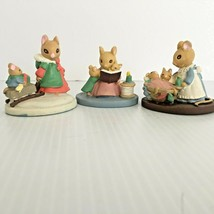 Avon FOREST FRIENDS Mice - Sleigh Ride - StoryTime - All Tucked In Lot of 3 - $12.86