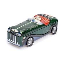 Classic Roadster Green Sports Car Silver Crane Decorative Tin 10 inch Re... - £20.39 GBP