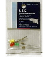 Miniatronics~#12-150-03~LED Blinker/Flasher~5mm~Red/Green/Yellow~w/Resis... - $8.00