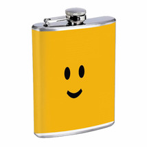 Smile Face Em2 Flask 8oz Stainless Steel Hip Drinking Whiskey - $13.81
